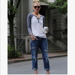 Current/Elliott Super Love Destroy Boyfriend Jeans
